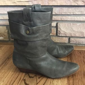 Frye Sam Double Shaft Slouch Boots Vintage Wedge